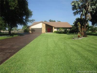 Southwest Ranches Single Family Home For Sale