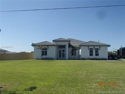 Homestead Single Family Home For Sale: 17120 SW 280th Street