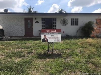 Miami Gardens Single Family Home For Sale: 18813 NW 47 Pl