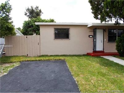 Miami Gardens Single Family Home For Sale: 19220 NW 35th Ave
