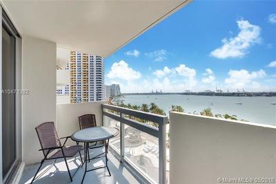 Miami Beach Condo For Sale: 1500 Bay Rd #822S