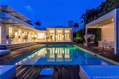 Miami Beach Single Family Home For Sale: 3140 N Bay Rd