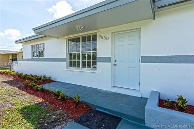 Cutler Bay Single Family Home For Sale: 9880 Bahama Dr