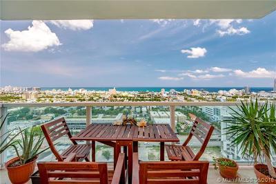 Miami Beach Condo For Sale: 650 West Ave #2306