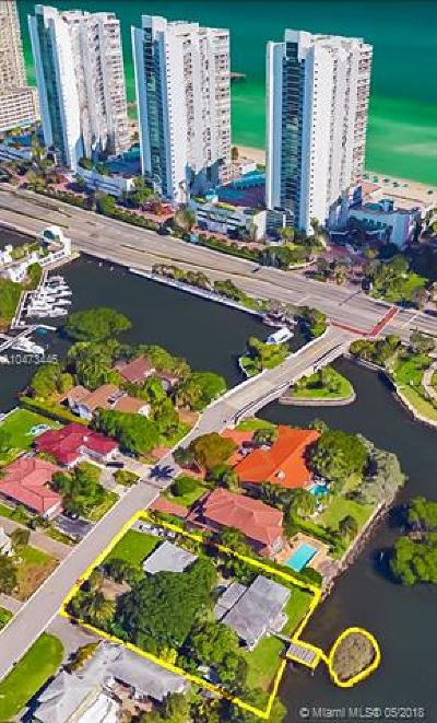 Sunny Isles Beach Single Family Home For Sale: 214 Atlantic