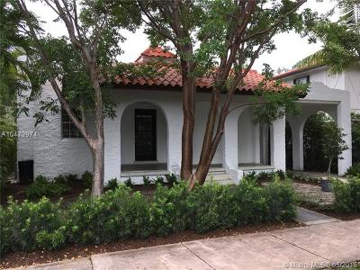 Coral Gables Rental For Rent: 1209 San Miguel Av