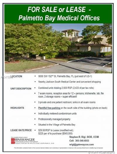 Palmetto Bay Commercial For Sale
