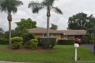 Coral Springs Single Family Home For Sale: 10033 NW 20th St