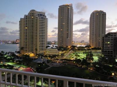 Miami-Dade County Condo For Sale: 701 Brickell Key Blvd #1210