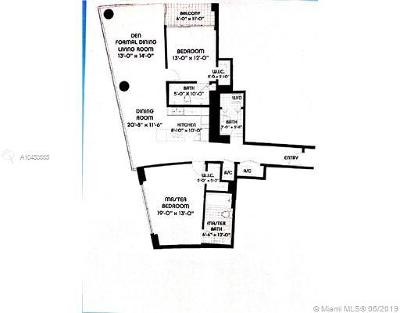 Blue Condo, Blue Condo - Waterfront, Blue Condominium Condo For Sale: 601 NE 36th St #2501