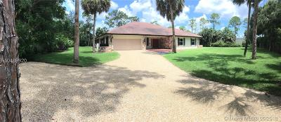 West Palm Beach Single Family Home Active With Contract: 8785 Thousand Pines Cir