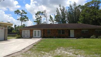 West Palm Beach Single Family Home For Sale: 7824 Pioneer Rd