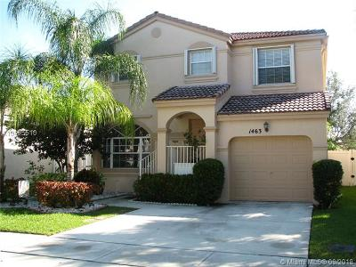 Pembroke Pines Single Family Home For Sale: 1463 NW 153rd Ln