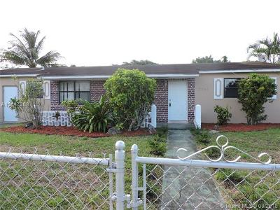 Miami Gardens Single Family Home For Sale: 2781 NW 211th St
