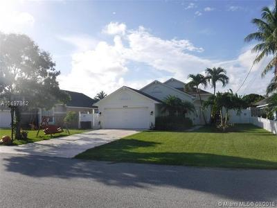 Jupiter Single Family Home For Sale: 6309 Hollywood St