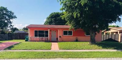 Miami Gardens Single Family Home For Sale: 1401 NW 190th St