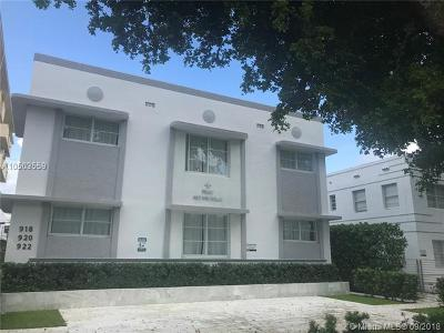 Miami Beach Condo For Sale: 920 Jefferson Ave #4