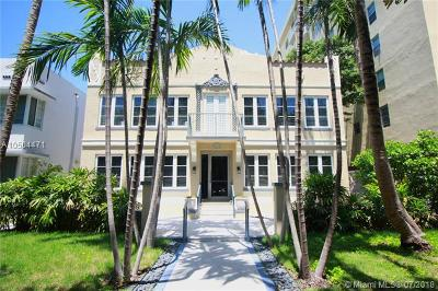 Miami Beach Condo For Sale: 1018 Meridian Ave #2