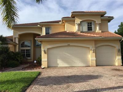 Davie Single Family Home For Sale: 11406 Canyon Maple Blvd