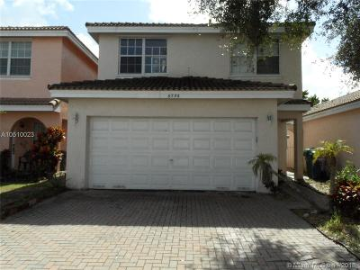 Lauderhill Single Family Home For Sale: 6730 NW 38th Dr