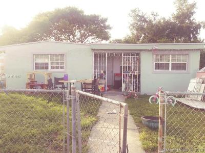Opa-Locka Single Family Home For Sale: 1861 Wilmington St