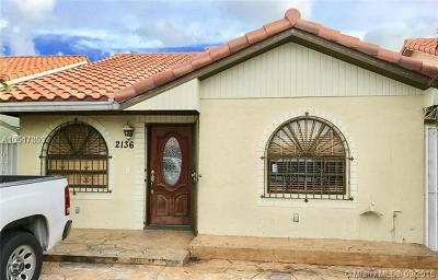 Hialeah Single Family Home For Sale: 2136 W 54th St