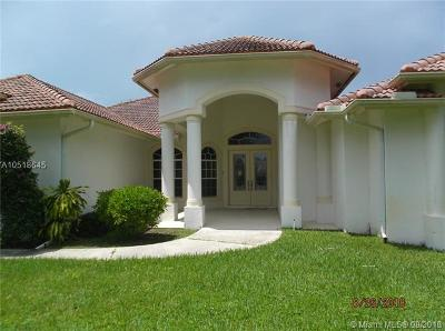 Jupiter Single Family Home For Sale: 15633 Jupiter Farms Rd