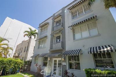 Miami Beach Condo For Sale: 1619 Lenox Ave #14