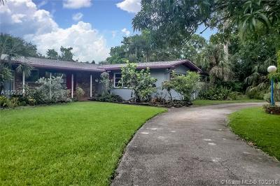 Pinecrest Single Family Home For Sale: 9675 SW 69th Ave