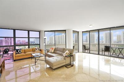 Miami-Dade County Condo For Sale: 1000 Island Blvd #1604