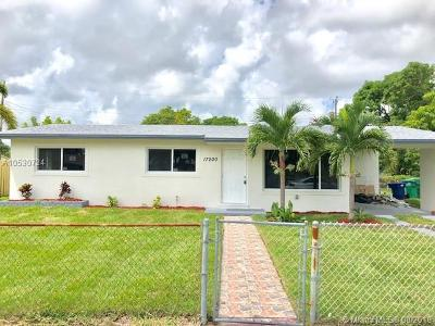 Miami Gardens Single Family Home For Sale: 17200 NW 10th Ct