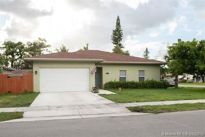 Oakland Park Single Family Home Active With Contract: 4095 NW 5th Ave