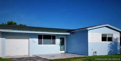 Broward County Single Family Home For Sale: 1031 N 74th Ter
