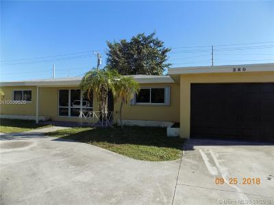 Pompano Beach Single Family Home For Sale: 280 SW 14th Ct