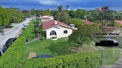 Miami Beach Single Family Home For Sale: 1255 Lenox Ave