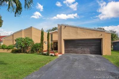 Coral Springs Single Family Home Active With Contract: 8713 NW 27th St