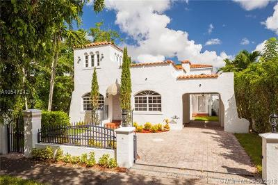 Coral Gables, South Miami Single Family Home For Sale: 1253 Alhambra Cir