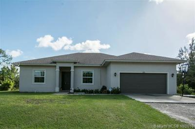 Loxahatchee Single Family Home For Sale: 14704 N 74th St N