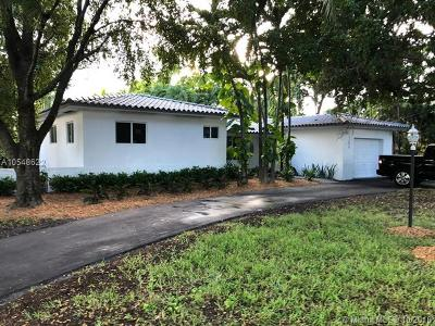 Miami Springs Single Family Home For Sale: 1100 N Royal Poinciana Blvd