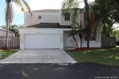 Cutler Bay Single Family Home For Sale: 22179 SW 98th Ct