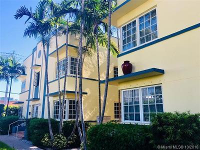 Miami Beach Condo For Sale: 600 Euclid Ave #B1