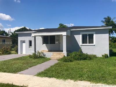 North Miami Single Family Home For Sale: 1159 NE 160th St