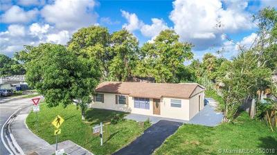 North Lauderdale Single Family Home For Sale: 1821 SW 68th Ave