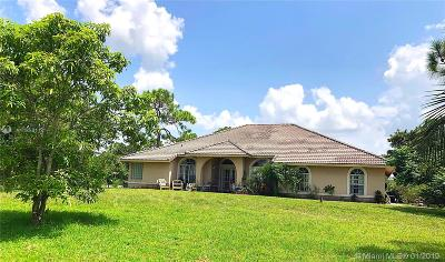 Loxahatchee Single Family Home For Sale: 17314 N 71st Ln N