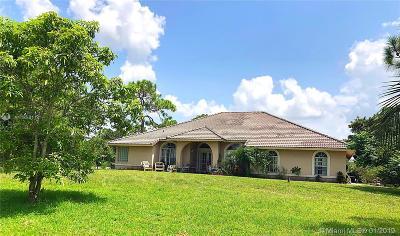 Loxahatchee Single Family Home For Sale: 17314 N 71st Ln N