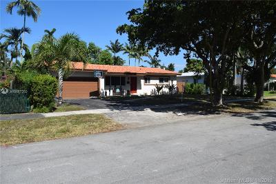 Miami Springs Single Family Home For Sale: 1281 Heron Ave