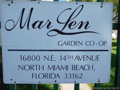North Miami Beach Condo For Sale: 16900 NE 14th Ave #209