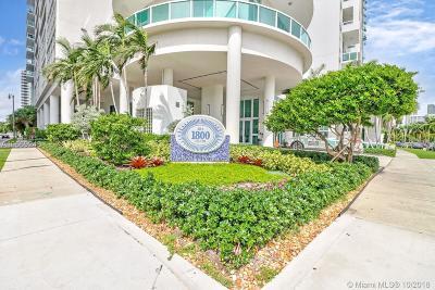 Miami-Dade County Condo For Sale: 1800 N Bayshore Dr #1503