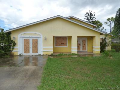 Jupiter Single Family Home For Sale: 6707 3rd St