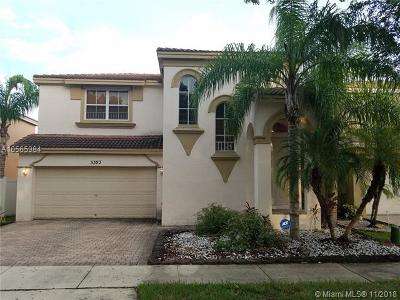 Miramar Single Family Home For Sale: 5393 SW 155th Way